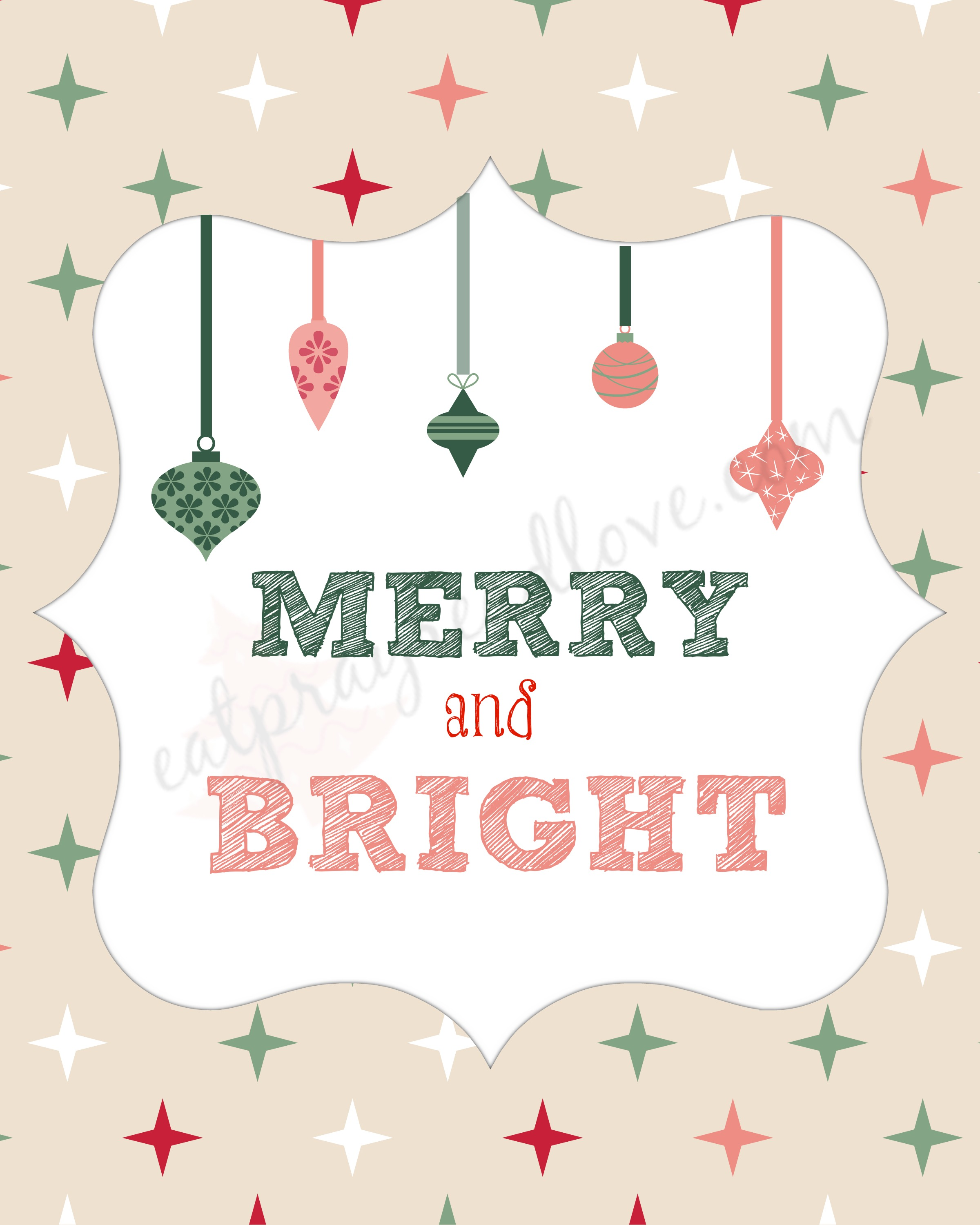 merry and bright watermark